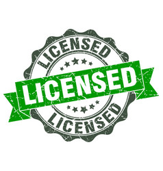 Licensed stamp sign seal vector