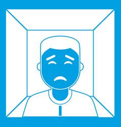 man icon white vector image