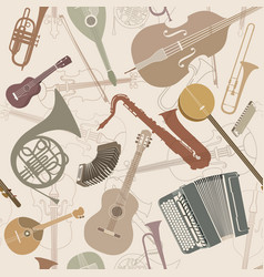 Music sign seamless background musical vector
