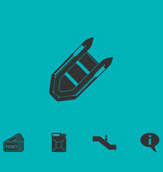 Powerboat icon flat vector