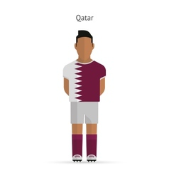 Qatar football player soccer uniform vector