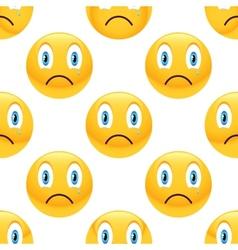 Sad emoticon pattern vector image