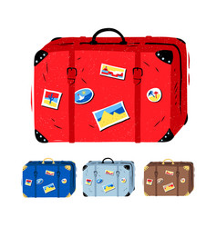 set of travel suitcases vector image