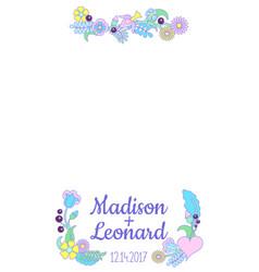 Smartphone photo frame handdrawn floral ornament vector