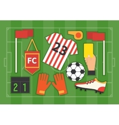 Soccer Football Field vector image