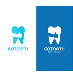 Tooth and like logo combination dental vector