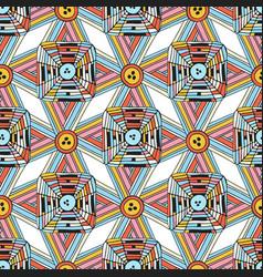 unique seamless pattern doodle geometric vector image vector image