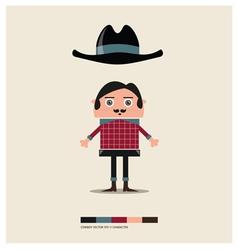 Cowboy toy vector