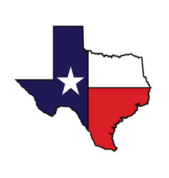 Us state of texas map logo design vector