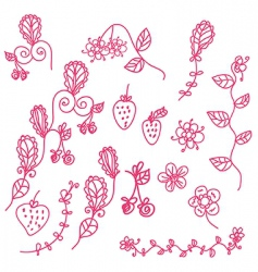 strawberry pink vector image