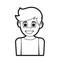 Isolated boy cartoon design vector