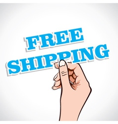 Free shipping in hand vector
