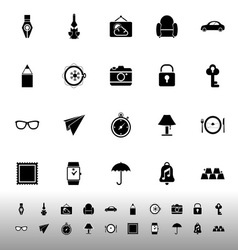Vintage collection icons on white background vector