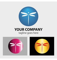 Dragonfly logo vector