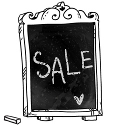 Sale announcement on a chalkboard vector
