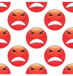 Angry emoticon pattern vector