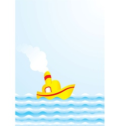 Summer boat vector
