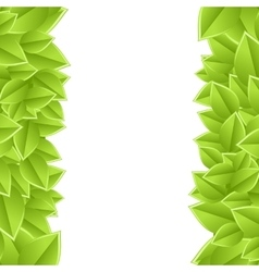 Template with leaves vector