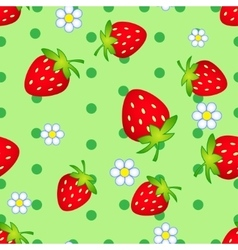 Strawberry flowers vector