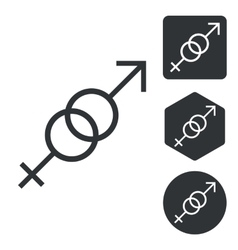 Gender symbols icon set monochrome vector