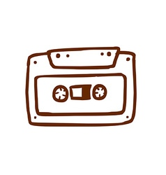 Hand drawn cassette vector