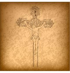christ on a cross vector image