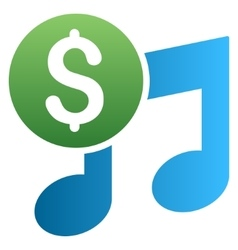 Music price gradient icon vector