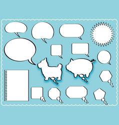 a speech balloon set vector image vector image
