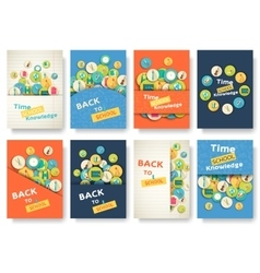 Back to school information pages set education vector