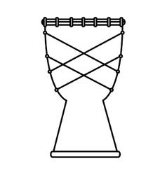 bongo instrument isolated icon vector image