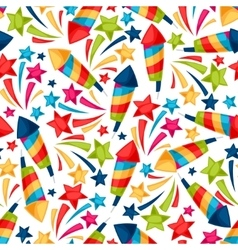 Celebration festive seamless pattern with colorful vector