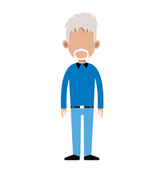 character man standing casual clothes image vector image vector image