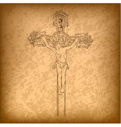 christ on a cross vector image