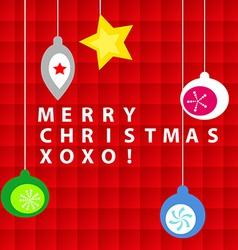 Christmas ornament card vector image