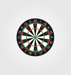 classic darts board target vector image