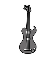 Electric guitar isolated icon vector