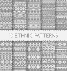 Ethnic seamless patterns vector