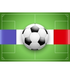 France Flag and Championship of football vector image vector image