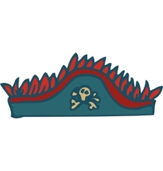 Gray hat pirate tricorn vector