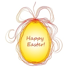 Happy Easter Background with eggs vector image vector image