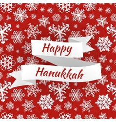 Happy hanukkah card with snowflakes vector