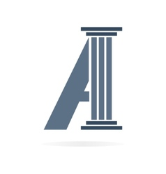 Letter a logo or symbol icon vector