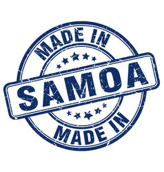 Made in samoa vector