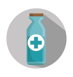 medicine bottle container vector image