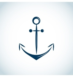 Nautical anchor icon blue vector