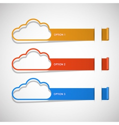 option step cloud background vector image