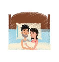 Person sleeping icon image vector