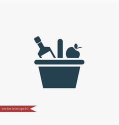 picnic basket icon simple vector image