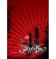 red city vector image