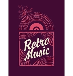 retro music an old vinyl record vector image vector image